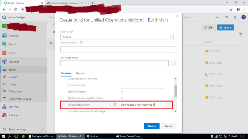 D365/AX7:Exclude test packages/models(DemoDataSuite) from VSTS build